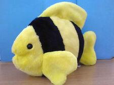 "Ty Beanie Buddies BUBBLES the Yellow and Black Fish Plush Buddy 11"" 1999"