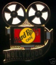 Hard Rock Cafe HOLLYWOOD 1990s MOVIE CAMERA PIN with HRC Logo & Film Strip