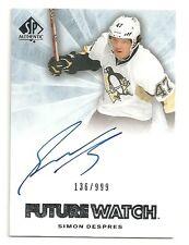 2011-12 SP Authentic Future Watch Rookie Autograph #274 SIMON DESPRES  #136/999