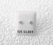 NEU 925 Silber OHRSTECKER 4mm SWAROVSKI STEINE kristallklar/crystal OHRRINGE