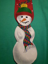 """Jolly Holly Red White Green Christmas Snowman Tie 57"""""""