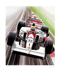 POSTER ARTWORK PRINT / DESSINS F1 MCLAREN MP4/7 SENNA 1992  by CLOVIS