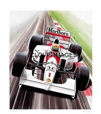 POSTER ARTWORK PRINT / DESSINS F1 MCLAREN MP4/7 SENNA 1992  by CLOVIS