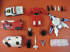 Vintage Transformers Guard Star Fire Rescue Wing Brave Police Figure Box Off Ver