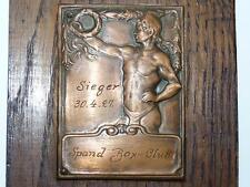 Historic 1927 Jewish Boxing Champion Sieger Copper Medallion, Spand Box-Club