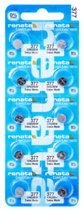 Renata 377 SR626SW 1.55 V Watch batteries x 10 pieces