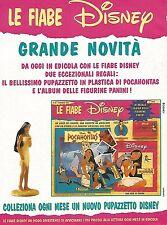 X1981 Pocahontas - Le Fiabe Disney - Pubblicità del 1996 - Vintage advertising