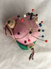 Vintage Three Chinamen Chinese Pin Cushion Pincushion Sewing Pin Cushion