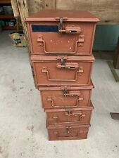 More details for vintage mod military ammo / tool / storage metal boxes