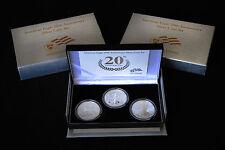 2006 20th Anniversary Silver Eagle Three Coin Set