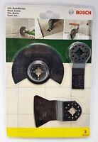 3x Bosch 3tlg Starter-Set Fliesen Multifunktionswerkzeuge Multitool 2607017324