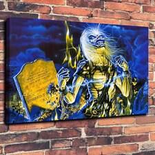 """Iron Maiden Eddie Graveyard Printed Canvas A1.30""""x20""""~Deep 30mm Frame"""