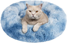 New listing Dog Bed Cat Bed, Calming Orthopedic Pet Puppy Bed Donut Cuddler Machine Washable
