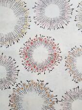 JoAnn Tracy Porter Flower Circles BtHY Cotton fabric pink rose brown grey yellow
