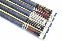 """SET OF 5 POOL CUES New 58"""" Canadian Maple Billiard Pool Cue Stick #5 FREE SHIP"""