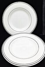 "2 Pottery Barn BISTRO Large Dinner Plate Charger Platter 12 1/4""  Black Bands *C"