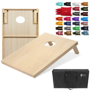 Tailgating Pros 3'x2' Cornhole Boards W Carrying Case 8 Cornhole Bags 25 Colors!
