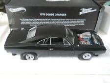 Hotwheels Elite 1970 Dodge Charger Fast and Furious 1:18 Diecast RARE