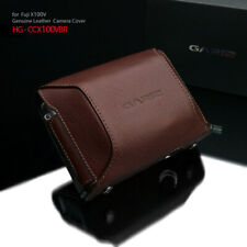 Gariz HG-CCX100VBR Add-On Cover Genuine Leather for Fuji X100V, Brown