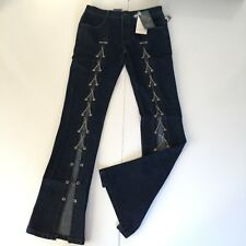 Body Teaser Jeans W28 Ins 32 Flare Rockstar Chain Glam Slim Fit Stylish Stretch