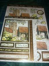 HUNKYDORY ADORABLE SCORABLE DECO-LARGE VILLAGE CHURCH DIE-CUTS-BASE-CARD