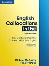 Cambridge ENGLISH COLLOCATIONS IN USE Intermediate | McCarthy & O'Dell @NEW BOOK