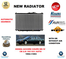 FOR HONDA ACCORD COUPE MK IV CB CC1 2.0i 16V AUTOMATIC 1992->1993 NEW RADIATOR