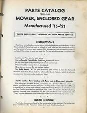 John Deere Mower, Enclosed Gear Parts Catalog
