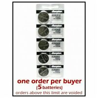 5 units Energizer CR2032 Lithium 3v batteries 3.0 Volt Button Coin Battery Cell
