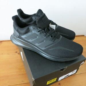 "Mens Adidas ""Run Falcon"" Triple Black Trainers - Size 13.5 /49.5"