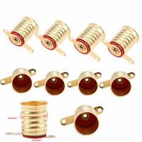 20pcs E10 Copper Light Bulb Screw Base Socket Light Lamp Holder 1cm Diameter New
