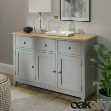 Nebraska Oak Dark Grey 3 Door 3 Drawer Sideboard