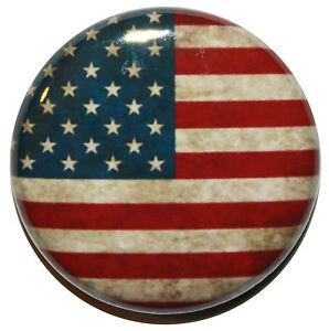 """1"""" (25mm) American USA Flag Button Badge Pin Clean or Vintage Style - US"""