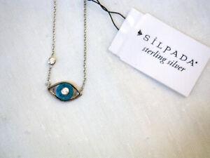Sterling silver Silpada Evil Eye pendant necklace