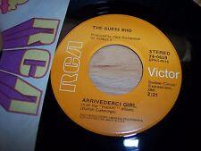 "VG++ Guess Who Arrivederci Girl / Heartbroken Bopper 7"" 45RPM w/ppr slv"