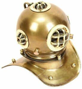 "Scuba Diving Nautical Helmet Brass Divers Helmet, 8"", Copper Antique Style Gift"