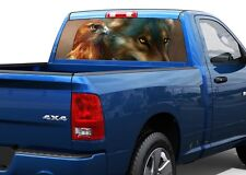 Wolf and eagle nature Rear Window Decal Sticker Pick-up Truck SUV 2