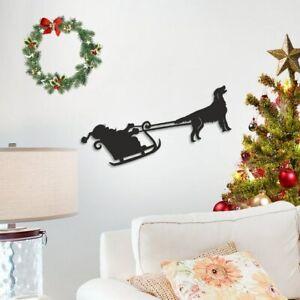 Flat Coat Retriever Santa Sleigh Decoration