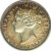 1890 Newfoundland Ten Cents -Gorgeous High Grade Circ -100,000 Mintage!-d132ncxx