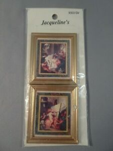 Jacqueline Dollhouse Miniature 1:12 Scale Framed Fine Art Print CUPIDS AT PLAY