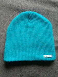 Neff blue snowboarding skiing knit beanie excellent unisex hat