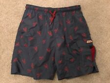 G.H. Bass And Co. Lobster Swim Shorts Large Waterproof Wallet Pockets Board