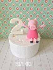 Edible Peppa Pig & Number For Peppa Pig Birthday Cake Peppa Theme