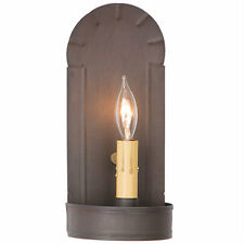 Fireplace Sconce Kettle Black Primitive Metal  Wall Electric Home Decor Lighting