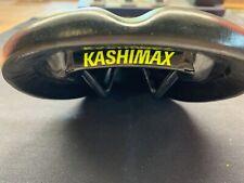 NOS KASHIMAX Leather Seat Saddle Old School BMX Vintage Cruiser OM SE GT JMC