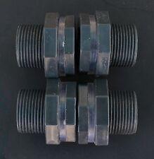 4 PACK Rain Barrel/Water Tank Bulkhead Adapter Fitting  3/4 hose bibb PVC Pipe