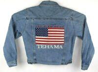 tehama womens xs clint eastwood denim jean jacket make my day american flag