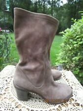 FIORENTINI + BAKER Sz 40 US 9.5- 10* Brown Leather Mid Calf Ankle Boots
