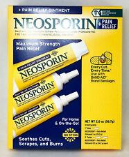 Neosporin Antibiotic Maximum Strength Pain Relief 3 pack 2oz (1-1oz, 2-0.5 oz)