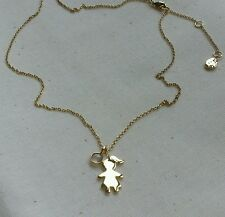 John Lewis 18ct Gold Plated Little Girl Rose Chalcedony Necklace RRP £ 35.00